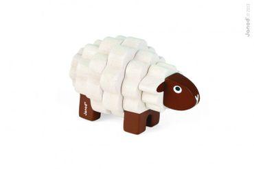 Janod Stecktier Schaf Holztier zum Stecken für Kleinkind 4teilig 08223