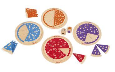 Janod Würfelspiel 123 Pizza aus Holz spielerisch Zahlen lernen ab 3 Jahre 08245 – Bild 2
