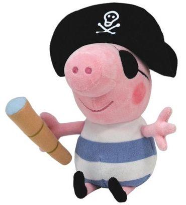 Ty Peppa Pig Schorsch Pirat Schwein 15cm Beanie Babies Kuscheltier Plüsch 46152