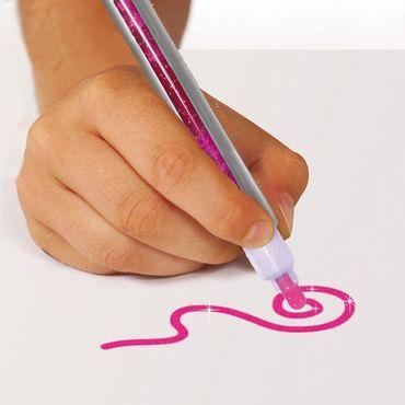 Aladine Colors Glitzer Filzstifte Fashion 3 Stück Farbstifte malen Kinder 42033 – Bild 2