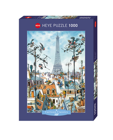 Heye Eiffel Tower Standard Puzzle 1000 Teile Cartoon Classics 29358 – Bild 1