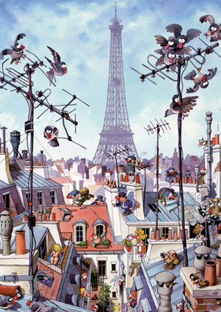 Heye Eiffel Tower Standard Puzzle 1000 Teile Cartoon Classics 29358 – Bild 2
