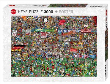 Heye Football History Standard Puzzle 3000 Teile Cartoon mit Poster 29205 – Bild 1