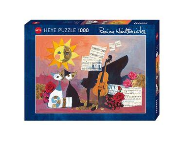 Heye Cello Standard Puzzle 1000 Teile Rosina Wachtmeister Katzen mit Noten 29449 – Bild 1