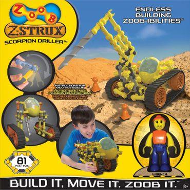 ZOOB Z-Strux Bausatz Skorpion-Bohrer kreativer Baukasten Steckbausteine 0Z15020