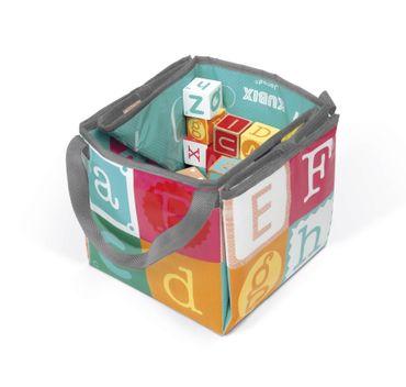 Janod Kubix 40 Bausteine Zahlen und Buchstaben Holz Bauklötze mit Tasche 08077 – Bild 6