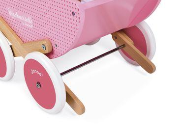 Janod Puppenwagen Mademoiselle aus Holz mit Decke Kippschutzsystem J05899 – Bild 5