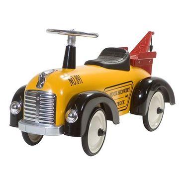 Retro Roller Rutscher Speedster Tommy gelb Rutschauto Abschleppwagen 706096 – Bild 1