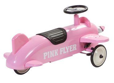 Retro Roller Rutscher Flugzeug Amelia rosa Rutschauto Spielzeug Metall 706115 – Bild 3