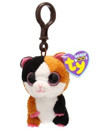 Ty Beanie Boo´s Schlüsselanhänger Hamster Nibbles 8,5cm Clip Plüsch 36523 – Bild 1