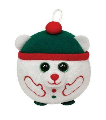 Ty Glubschi Polarbär Snowdrift Plüsch 8cm Schlüsselanhänger Weihnachten 35194