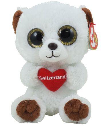 TY Beanie Boo`s Glubschi Bär Switzerland 15 cm Kuscheltier Plüsch 36120