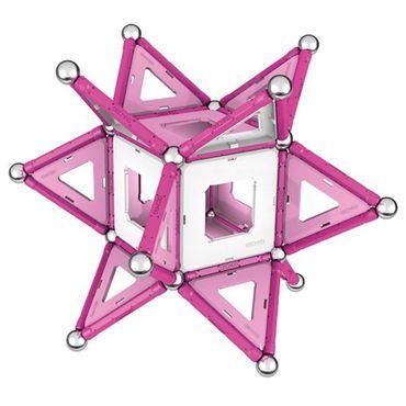 Geomag Pink Baukasten 104 Teile Bausatz Magnetkonstruktionen für Mädchen 00344 – Bild 4