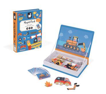 Janod Magnetbuch Fahrzeuge kreativ gestalten mit 50 Magneten für Kinder 02715 – Bild 2