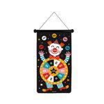 Janod Magnetisches Dartspiel Zirkus Kinderspiel beidseitig bedruckt 02074 001