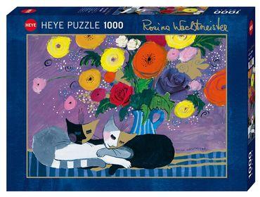 Heye Sleep Well Standard Puzzle 1000 Teile Rosina Wachtmeister Katzen 29818 – Bild 1