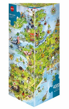 Heye United Dragons of Europe Triangular Puzzle 4000 Teile Europa 08854