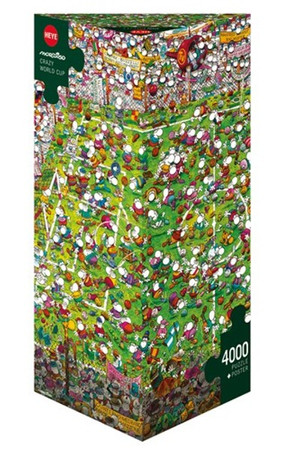 Heye Crazy World Cup Triangular Puzzle Cartoon 4000 Teile Fußballspiel 29072 – Bild 1