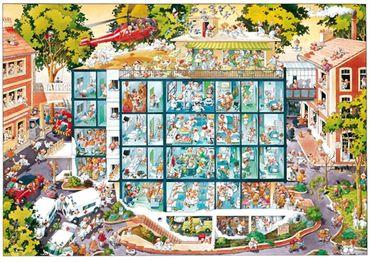 Heye Emergency Room Triangular Puzzle 2000 Teile Krankenhaus Notaufnahme 25784 – Bild 2