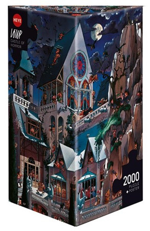 Heye Castle of Horror Triangular Puzzle 2000 Teile Spukschloss am Felsen 26127 – Bild 1
