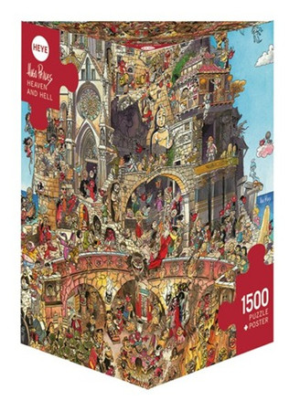 Heye Heaven and Hell Triangular Puzzle 1500 Teile Himmel und Hölle Cartoon 29118 – Bild 1