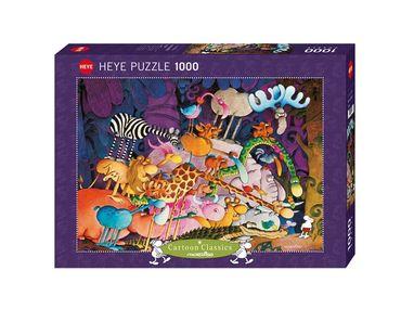 Heye Tarzan Standard Puzzle 1000 Teile Cartoon Tiere im Dschungel 29213 – Bild 1