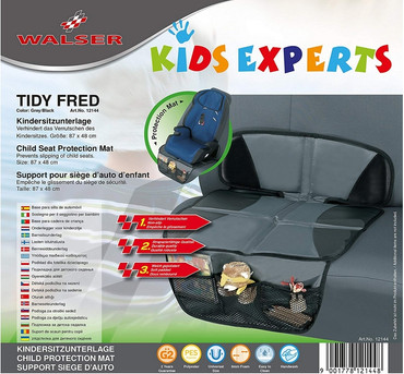 Kindersitzunterlage Tidy Fred grau Autositzauflage Sitzschoner Kindersitz 12144 – Bild 1