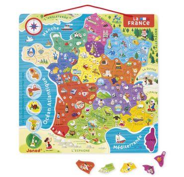 Janod Landkarte Frankreich magnetisches Puzzle in französische Sprache 05480 – Bild 2