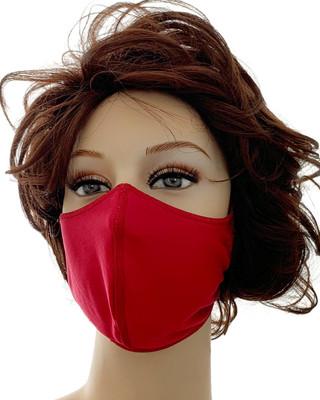 Nina von C. Mund-Nasen-Maske 3er-Pack 100% Polyester waschbar Farbe Rot Campari Lipstick