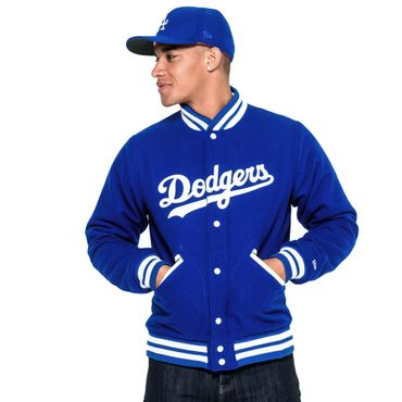 New Era Brooklyn Dodgers Heritage Varsity Jacket blau weiß – Bild 2