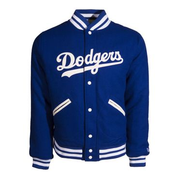 New Era Brooklyn Dodgers Heritage Varsity Jacket blau weiß – Bild 1