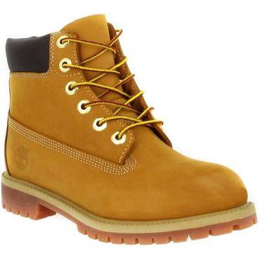 Timberland 6 Inch Premium Youth Kinder Boot wheat – Bild 3