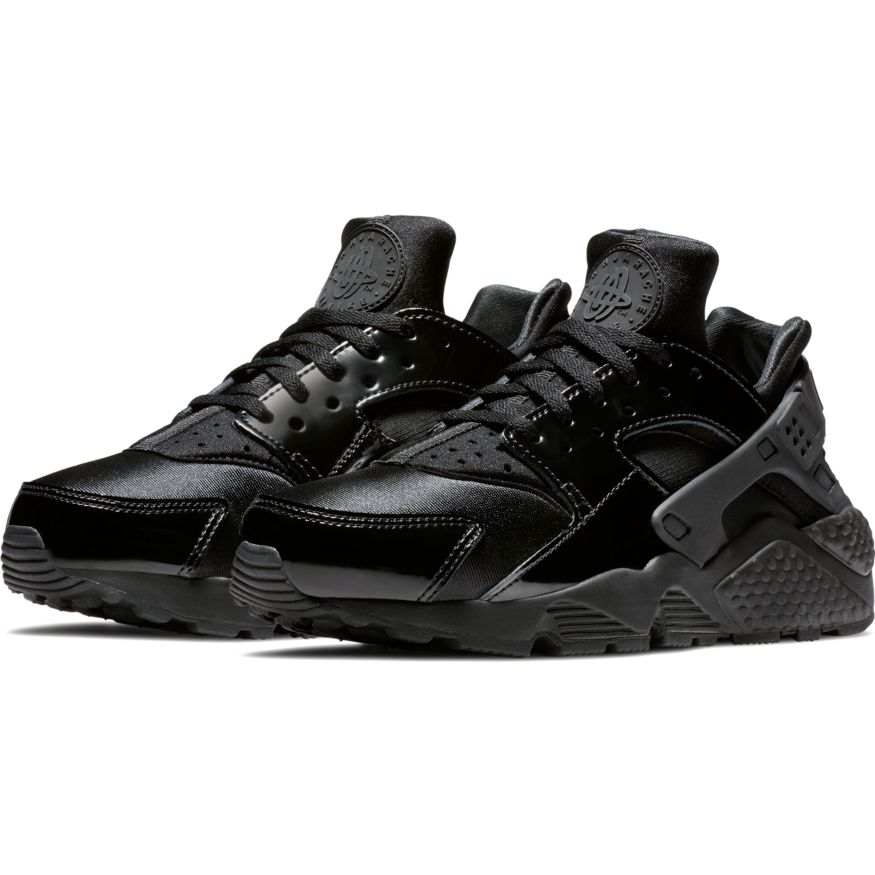 nike wmns air huarache run damen sneaker schwarz lack. Black Bedroom Furniture Sets. Home Design Ideas