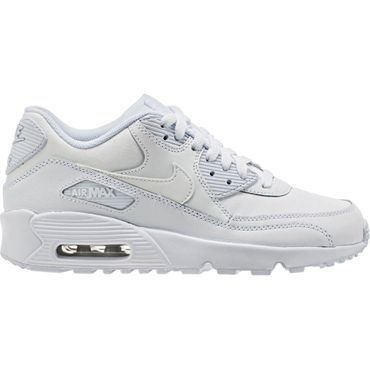 Nike Air Max 90 Leather GS weiss 833412 100 – Bild 1