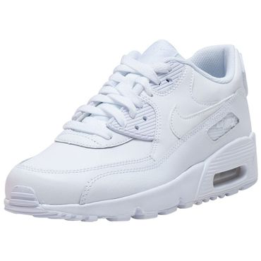 Nike Air Max 90 Leather GS weiss 833412 100 – Bild 2