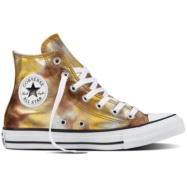 Converse All Star Hi Chuck Taylor Chucks silver gold metallic