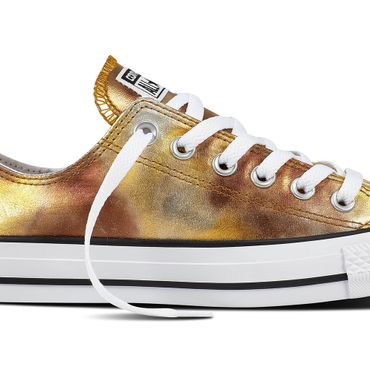 Converse All Star OX Chuck Taylor Chucks silver gold metallic – Bild 2