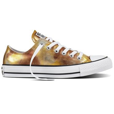 Converse All Star OX Chuck Taylor Chucks silver gold metallic – Bild 1