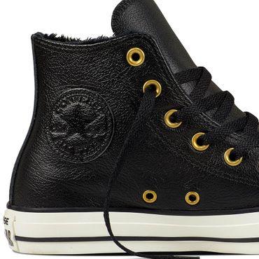 Converse All Star Hi Chuck Taylor Chucks schwarz Leder Fell – Bild 2