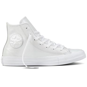 Converse All Star Hi Chuck Taylor Chucks Iridescent Leather white