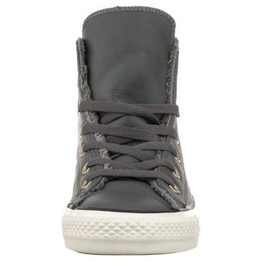 Converse All Star Hi Chuck Taylor Chucks grau Leder Fell – Bild 2