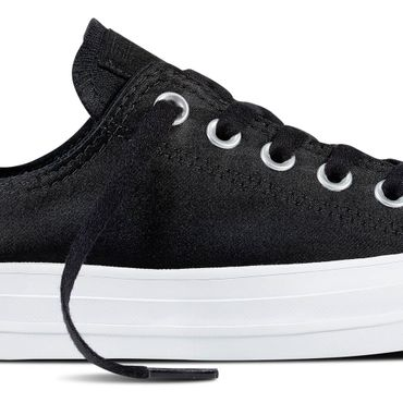 Converse All Star OX Satin Chuck Taylor Chucks schwarz – Bild 2