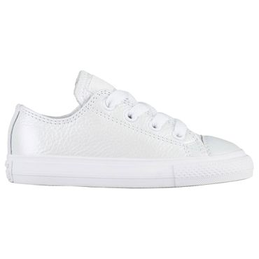 Converse All Star OX Chuck Taylor Chucks Baby Kinder weiß metallic – Bild 1