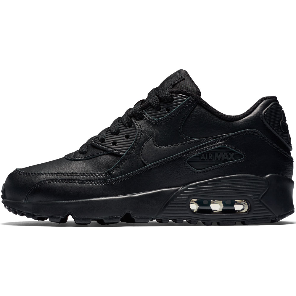 nike air max 90 leather gs schwarz