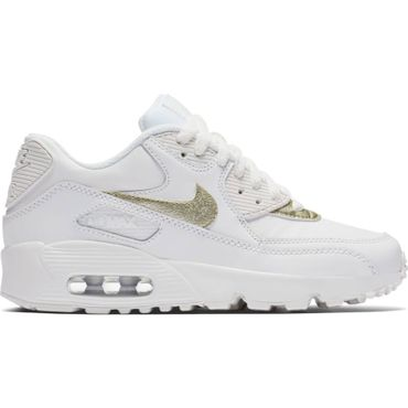 Nike Air Max 90 Leather GS weiss 833376 103 – Bild 1