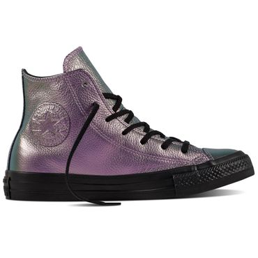 Converse All Star Hi Chuck Taylor Chucks Iridescent Leather violet