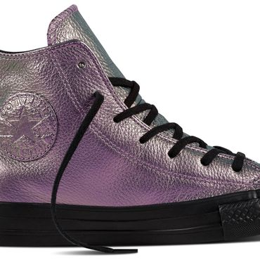 Converse All Star Hi Chuck Taylor Chucks Iridescent Leather violet – Bild 2