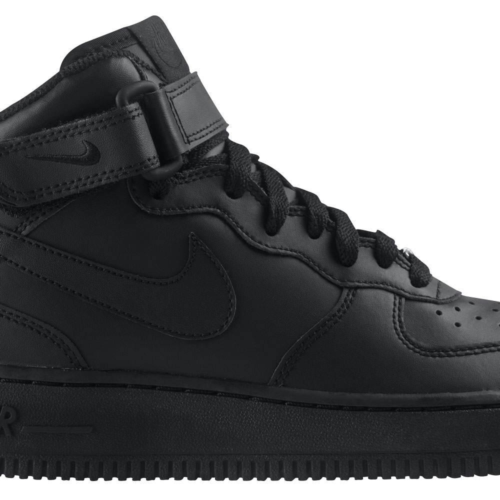 nike air force 1 mid gs schwarz 314195 004. Black Bedroom Furniture Sets. Home Design Ideas