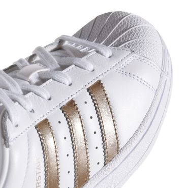 adidas Superstar W Sneaker weiß gold metallic – Bild 3