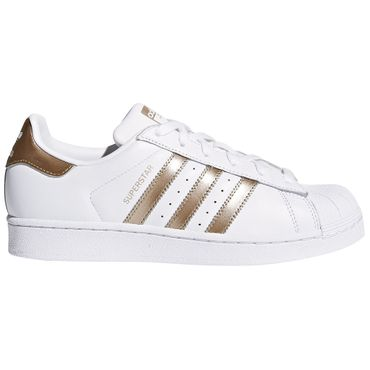 adidas Superstar W Sneaker weiß gold metallic – Bild 1